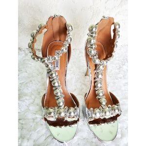 Cape Robbin silver heels size 8